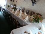 Svatební tabule v salonku pro 30 osob